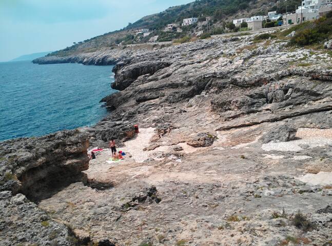 GROTTAVERDE,  Marina di Andrano - 50 mt dal mare!