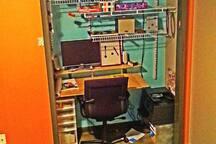 Closet turned office.