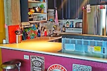 Retro(ish) kitchen.  Cook away!  :)