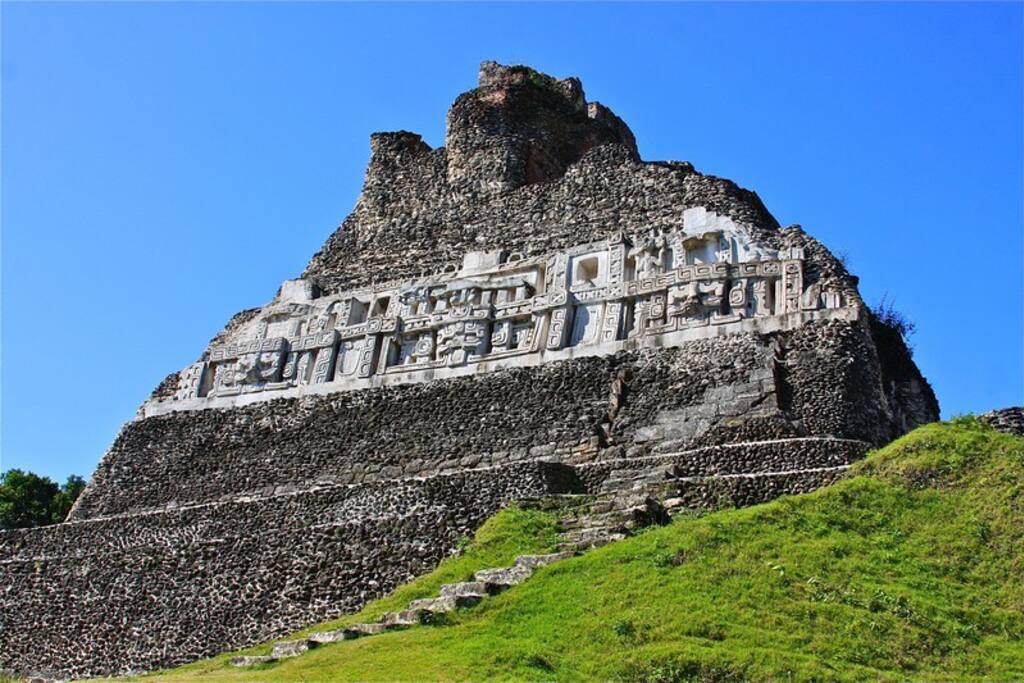 Mayan Pyramid ruins just outside your door,