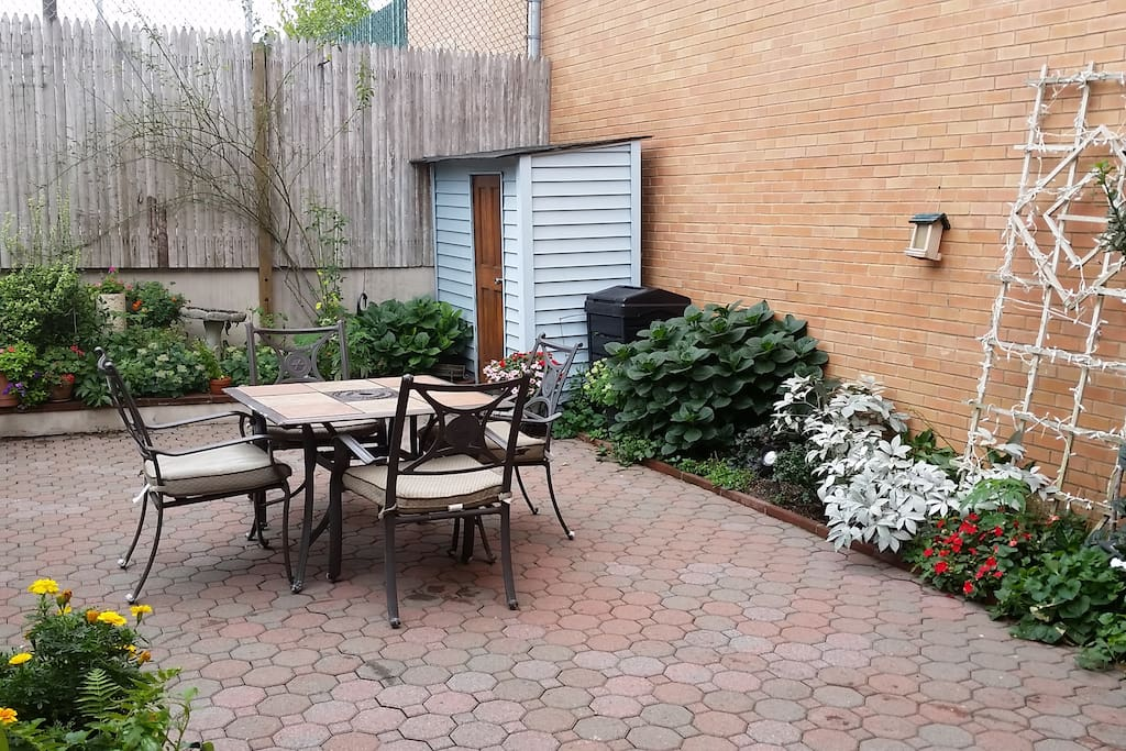Direct access to the backyard! * furniture is stored during colder months