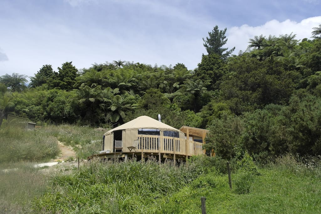 The guest yurt