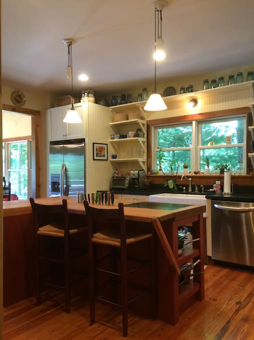 Gourmet kitchen with open floor plan, great for gathering with friends and family!