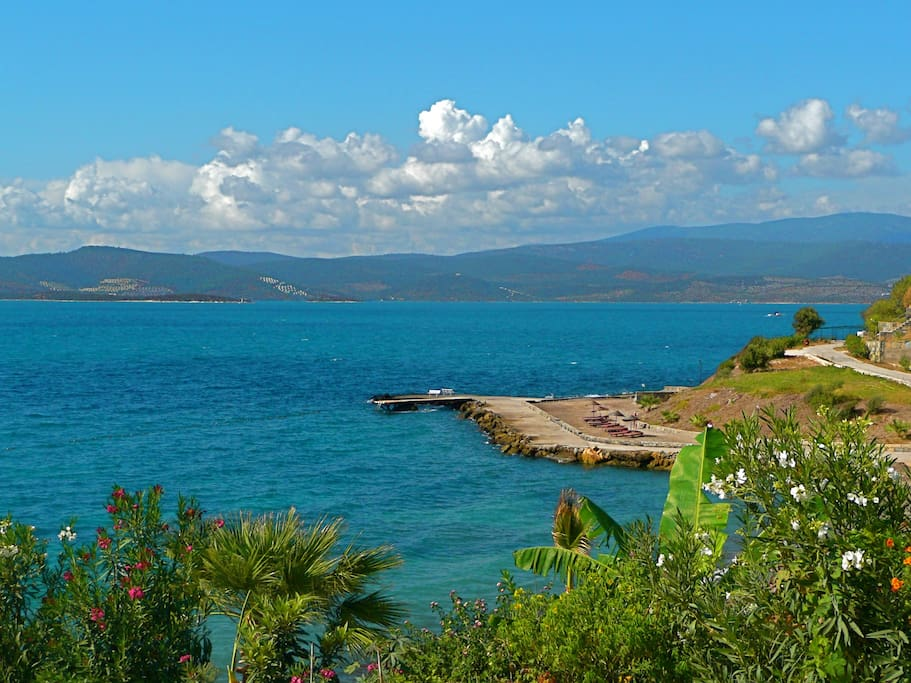 View of Gulluk Bay from the apartments
