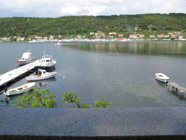Two Bedroom Apartment, seaside in Supetarska Draga - island Rab, Balcony