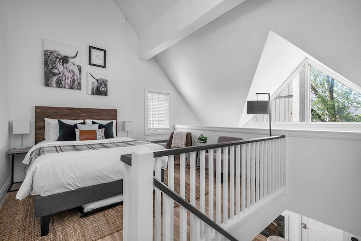 Loft Bedroom with a Queen Bed and Twin Bed Trundle