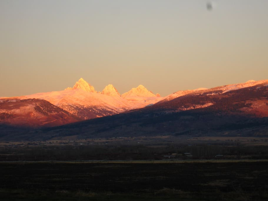 The Tetons from our back yard.