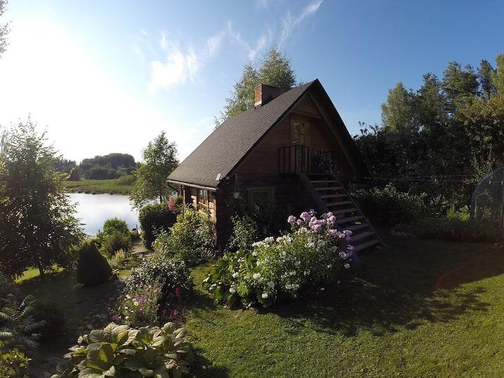 Beautiful wooden sauna house