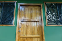 Secure, lock this door and it take a master thief to break in.