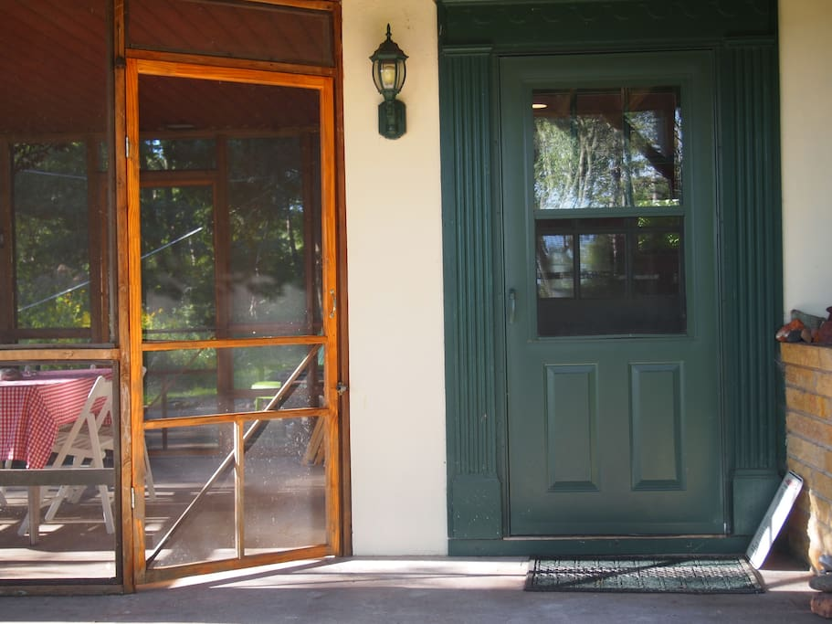 Private entrance and access to screen porch.