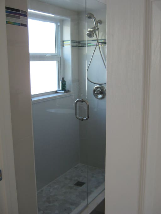 Shower in the bathroom.