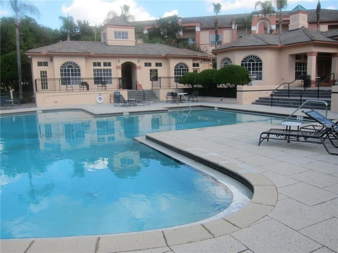 One of two community pools
