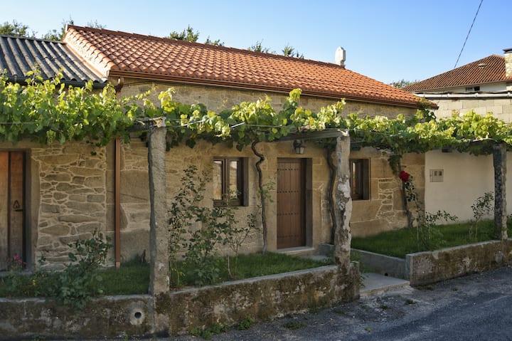 Casa de campo restaurada, tranquila, en Rianxo