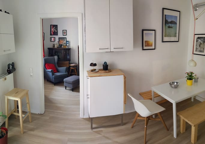 Nähe Messe: Helles 1,5 Zimmer / 1,5 rooms (shared)
