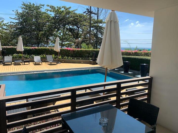 Nakalay Palm - pool view studio, walk to the beach!