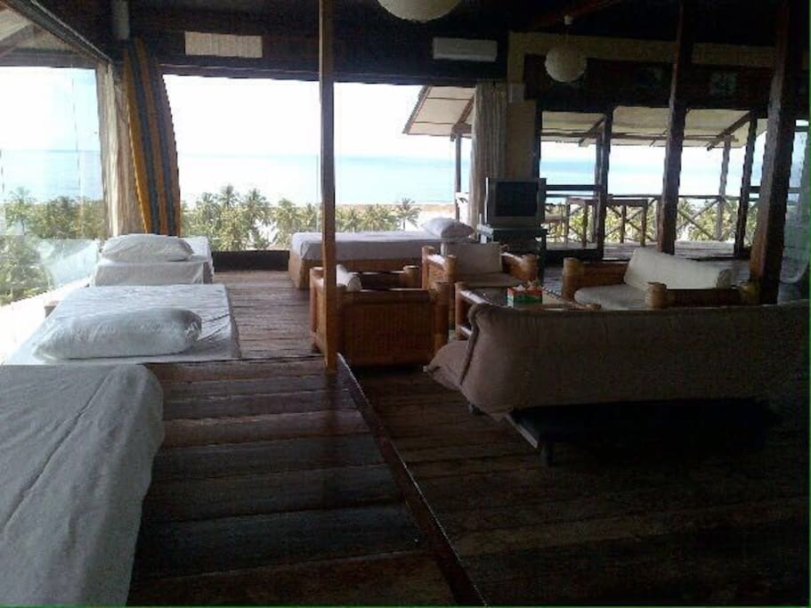 Lounge area with view of the ocean
