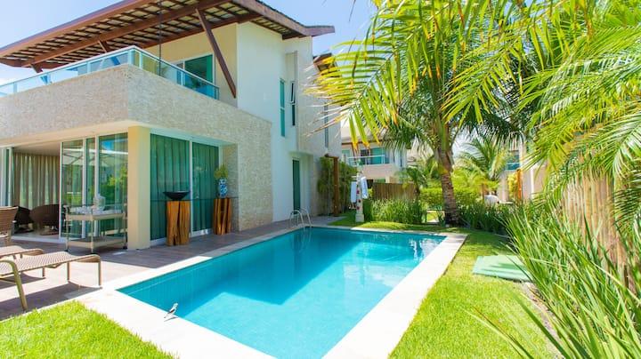 Bangalô 4 suites com piscina privativa e Wi Fi