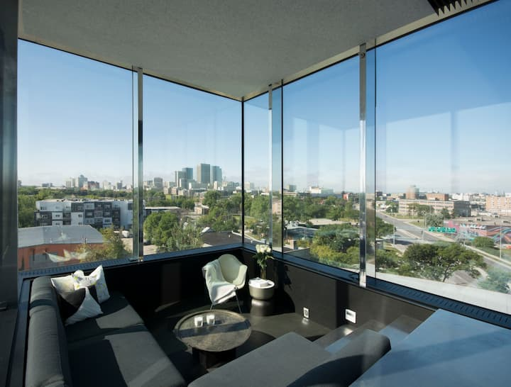 Unique urban getaway overlooking Winnipeg skyline