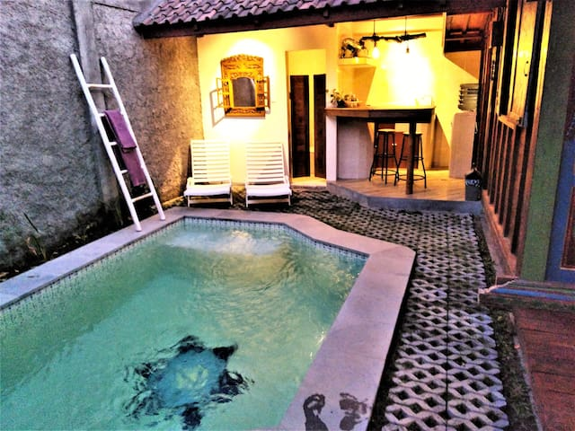 out door tropical private pool just for you..