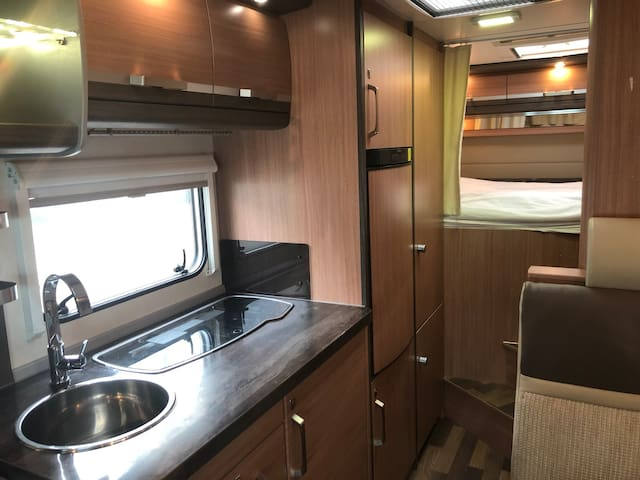 Modern motorhome- fully equipped