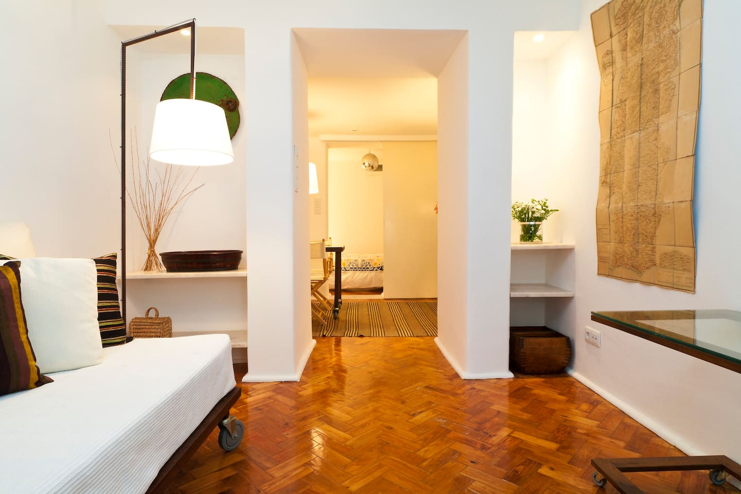 Living Room / Dining Room / Bedroom - Beautiful parquet and marble flooring throughout