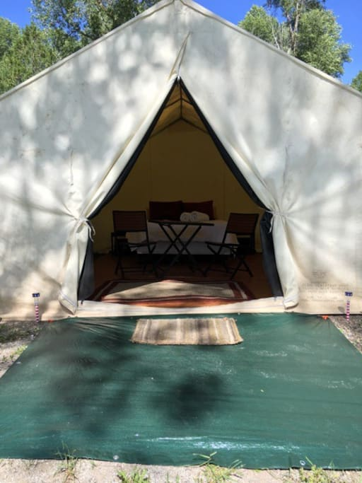 riverside wall tent tents for rent in irwin idaho