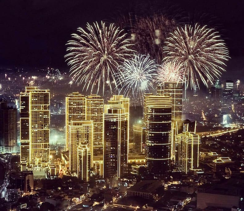 View of Rockwell during New Year's eve. from Milano Residences