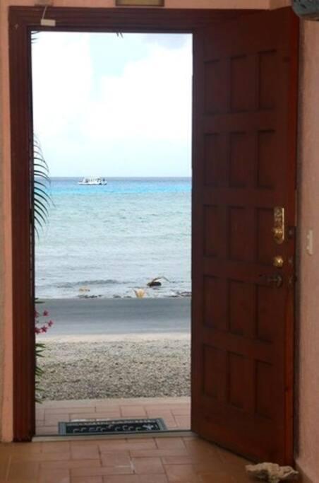 The view from the Front Door of Casa Feliz.