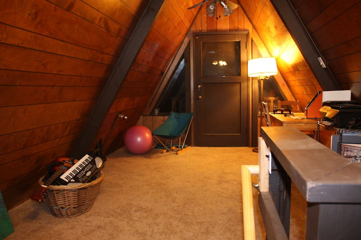 Upstairs office and music room