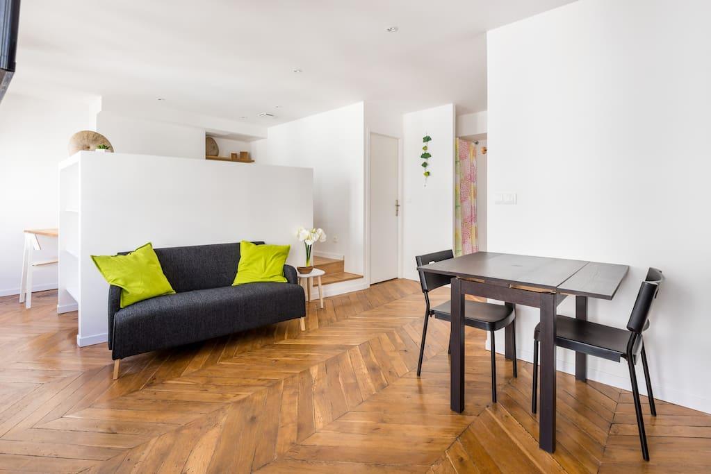 Grand studio atypique sur balcon appartements louer for Atypique appartement lyon