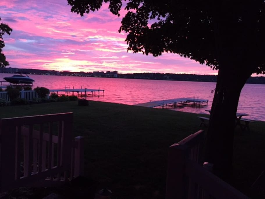 Amazing Sunsets on your private dock!