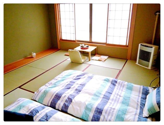 百年梅子树下的房屋:梅の屋榻榻米D,一个有高度的房间! - 小樽 - Huis