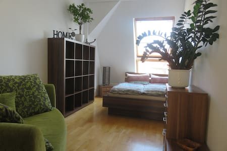 Cozy room in comfortable 180qm flat w. big terrace - Berlim