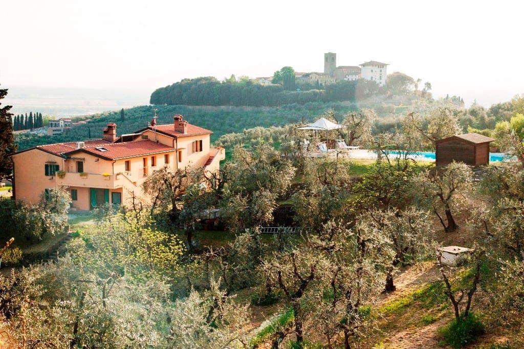 Villa toscana con piscina panoramica 10 12 ospiti villas - Piscina monsummano terme ...