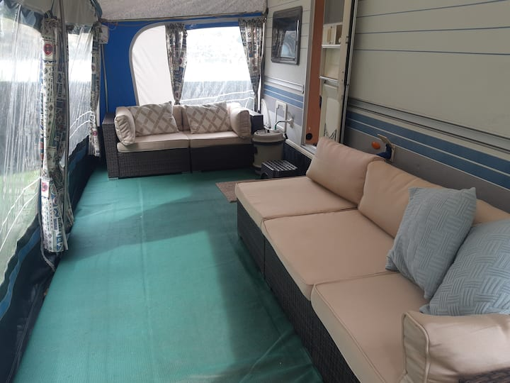 Beautifully situated  Hobby caravan, private site
