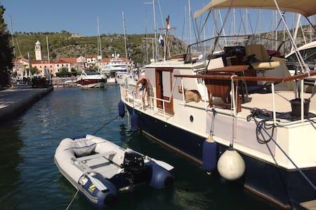Yacht in the Skradin Marina - Skradin