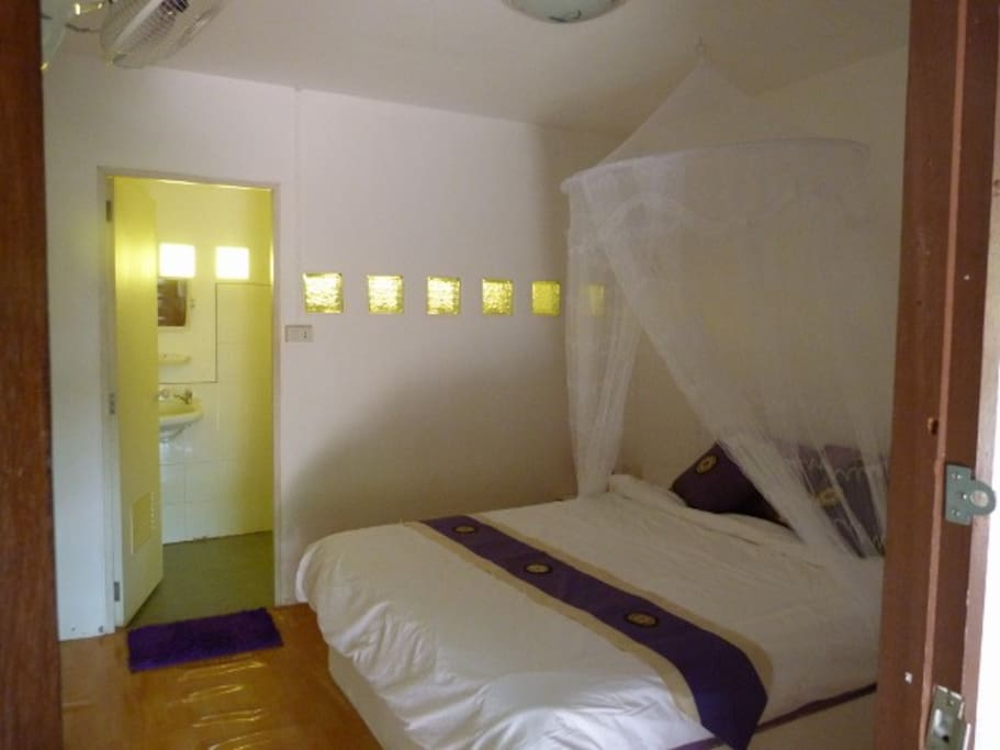 Simple, comfortable rooms with private bathroom and hot water