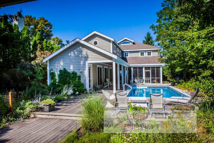 Stunning Lakefront Home & Guest House w/ Private Pool, Beach, Terraces & Views!