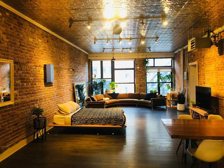 Massive Bowery Loft Studio with Private Deck