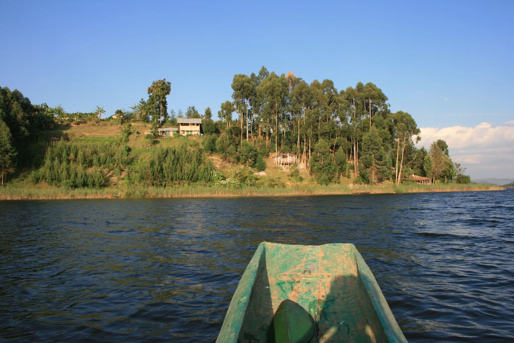 View of the Amasiko Homestay from the lake