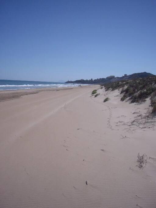 playa delante de la casa