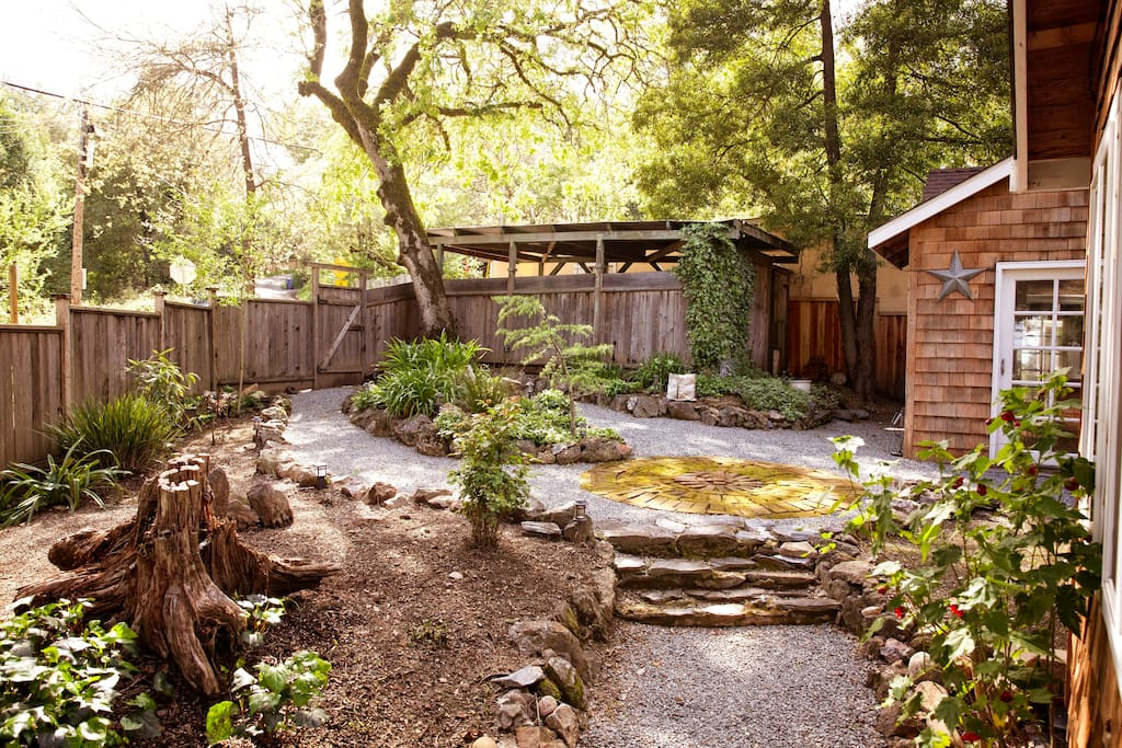 Patio, yard, and deck are completely private. Property sits on a hill and there is no visibility from the road or any surrounding homes.