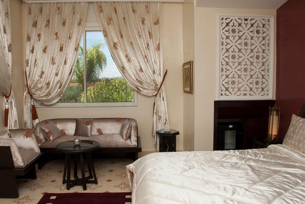 chambre veranda palais amador ville in affitto a marrakesh marrakesh tensift el haouz marocco. Black Bedroom Furniture Sets. Home Design Ideas