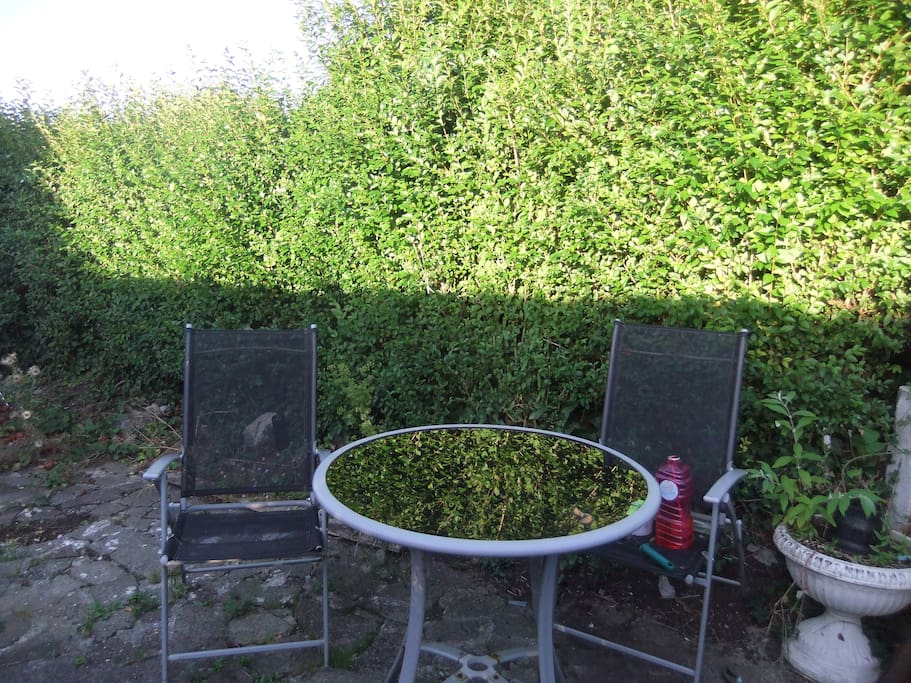 Nice garden area to drink coffee in