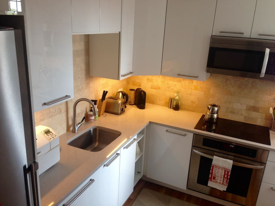 Brand new kitchen with dishwasher and induction cooker
