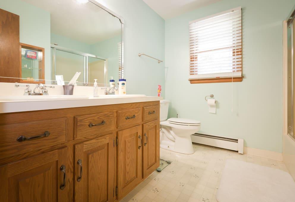 "Susan:""...bathroom was spacious and clean."""