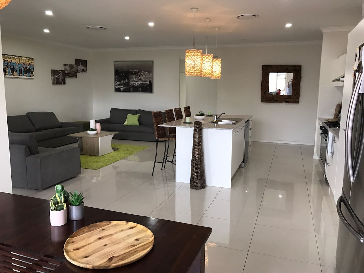 A modern cosy spacious home with open living plan & ducted air conditioning in all bedrooms & throughout entire house Comfort Clean fully furnished with all necessary amenities to make your stay comfortable & relax In a safe friendly neighbourhood.