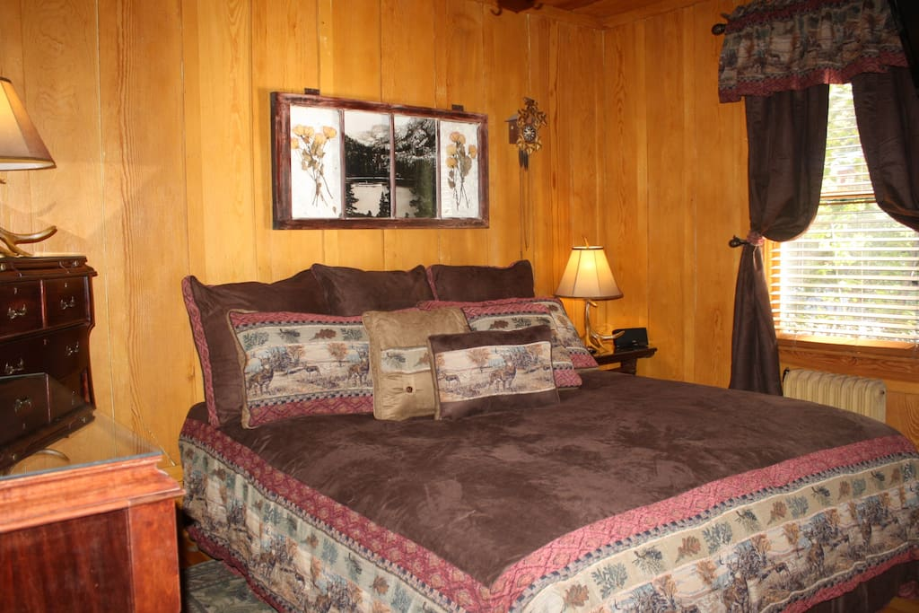 master bedroom with king sleep number bed