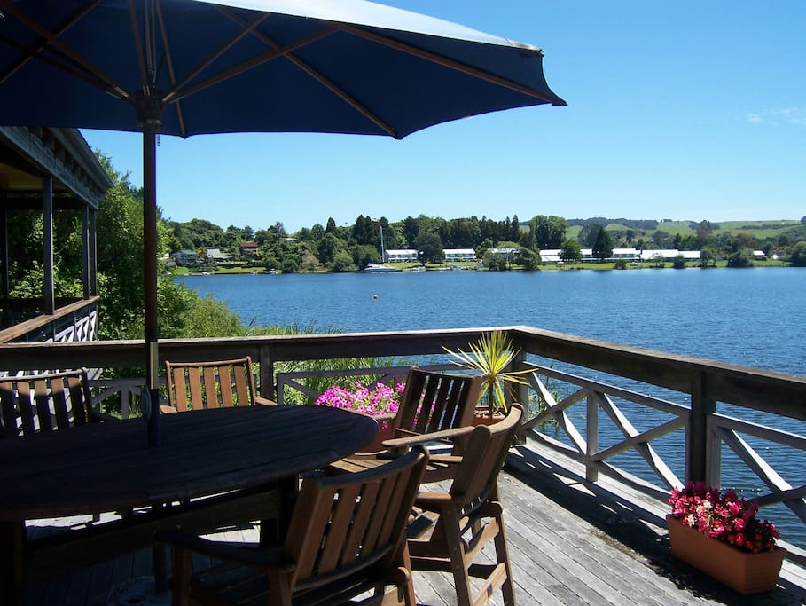 Enjoy breakfast on the deck when the weather permits