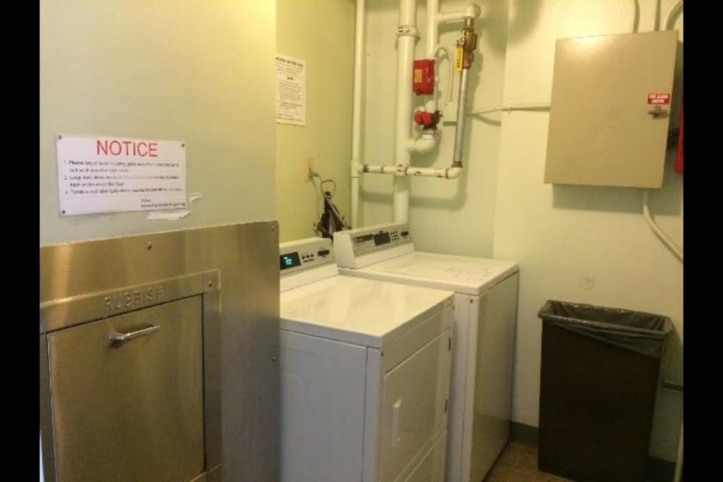 Laundry room and trash schute